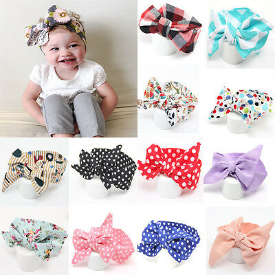 Ladies Headband Kids Girl Toddler Baby Bow Flower Hair Band Hoop Accessories