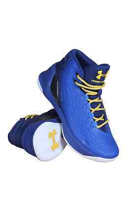 1274061-400 Grade School Curry 3 (Gs) Under Armour Blue Yellow