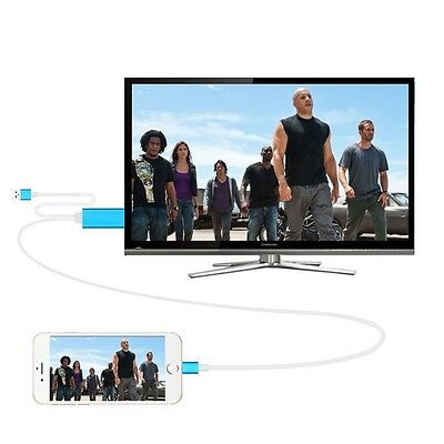 DIGITAL AV HDTV HDMI CABLE TRANSFER VIDEO AUDIO FROM Iphone 5 6 6S 7 IPad TO TV