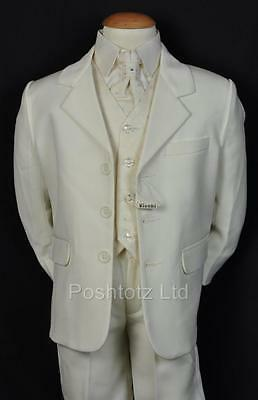 Boys Suit 5PC CREAM SUITS FORMAL / WEDDING / PAGE BOY SUITS