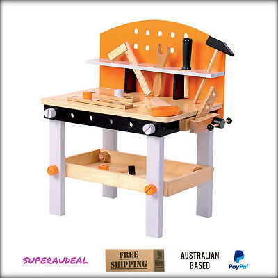 New Wooden Carpenters Work Bench with Play Tools Kids Child Boys Toys