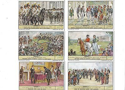 Leopold I(French text).Liebig set F1668.Issued 1957.Full set of 6.