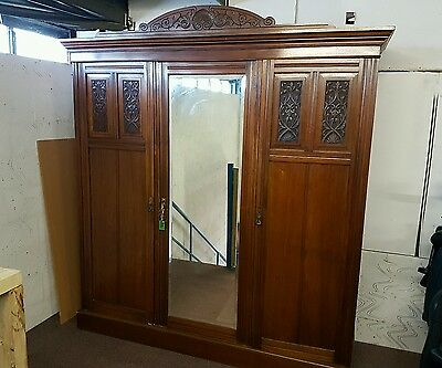 Large Antique Victorian compactum Wardrobe • £650.00