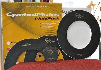 Cymbal Mutes Quiet Tone by Sabian Multi Pack 2-Pack (Crash / HiHat / Ut. Disc)