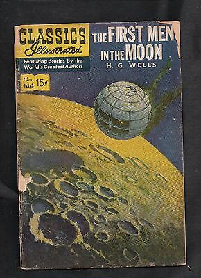 Classics Illustrated #144 Poor   Hrn161 (The First Men In The Moon) H G Wells
