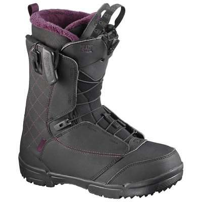 Salomon Pearl Women's Snowboard Boot 2017 - Black/Bordeaux/Black