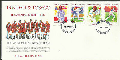 TRINIDAD & TOBAGO 1996 BRIAN LARA CRICKET HERO First Day Cover