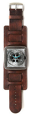 S.T.A.M.P.S. Leather Watch Strap Washed Brown