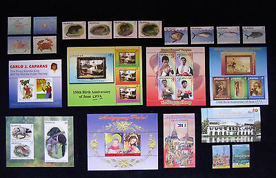Philippines Stamps  Flora Fauna Marine life Art Sport Box Nature Famous people