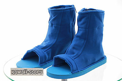 N-05 blau blue Ninja Shinobi Naruto Stoff Schuhe Cosplay shoes