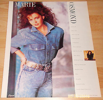 Marie Osmond - Capitol, Curb Record, Advert/ad 1988