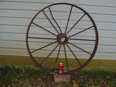 *LPU*** 36 inch Vintage 60# Cast Iron WAGON IMPLEMENT WHEEL antique 14 spoke