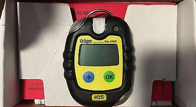 Drager Pac 3500 H2S Hydrogen Sulfide Gas Monitor Meter *67% OFF MSRP: $207.00*