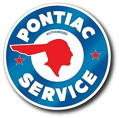 Pontiac Service Super High Gloss Outdoor 4 Inch Decal Sticker