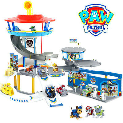 Hot Paw Patrol Lookout Tower Parking Lot Pup Car Park Toy Chase Marshall Rubble