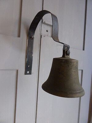 Antique wall mounted brass shop or servants bell