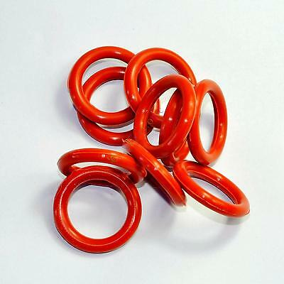 NEW 23mm Tube Dampers Silicone Ring fit 6V6GT 6SN7 6SL7 GZ34 10pcs for tube amps