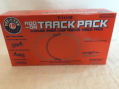 Lionel G-Guage 7-11112 Inner Loop Add-On Train Track Pack Switch Curve - NEW