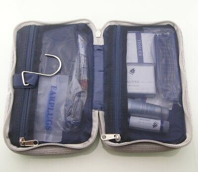 USA Continental Airlines Business First Class Travel Amenity Kit Case Bag