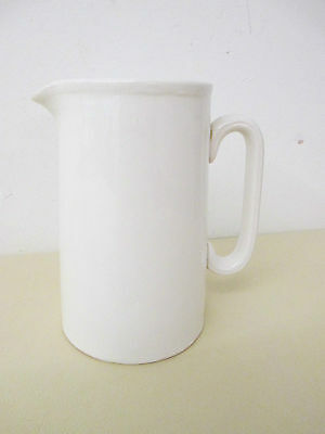 Milk Jug - Ceramic - Lord Nelson Pottery - White - Vintage - 14cm High