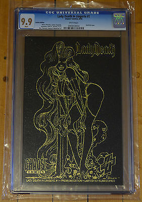CGC 9.9 Lady Death in Lingerie #1 *Leather*White Pages*