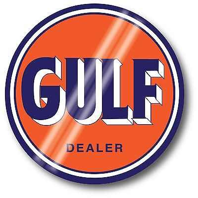 Super High Gloss Outdoor 4 Inch Gulf Gasoline Round Decal Sticker