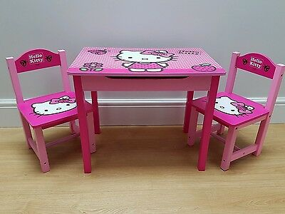 Hello Kitty Childrens Table/ Desk and Chairs - Pink