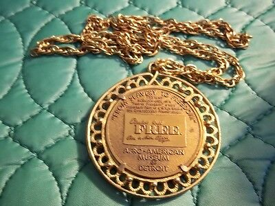 Afro-American Museum Of Detroit Necklace Medal From Slavery To Freedom Church