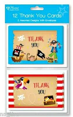 Personalised Birthday Thank you cards Princess and Pirate A0015 add a photo