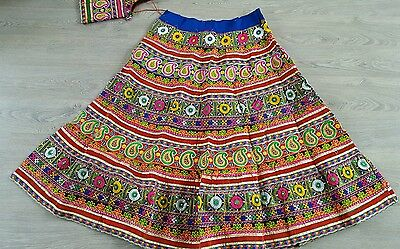Indian traditional navratri (garba)special Lengha choli with  ready blouse.