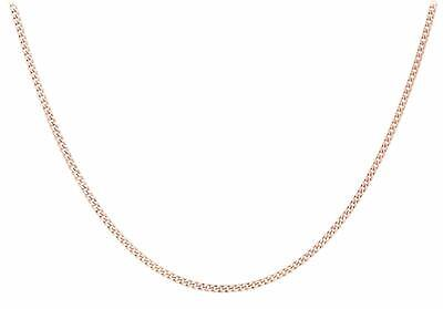"9ct Rose Gold 20 Diamond Cut Curb Chain 46cm/18"" For Pendant/Necklace Gift Boxed"