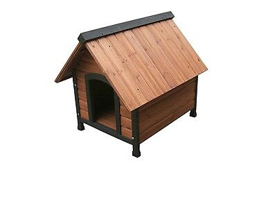 Dog Kennel Wood Timber Medium