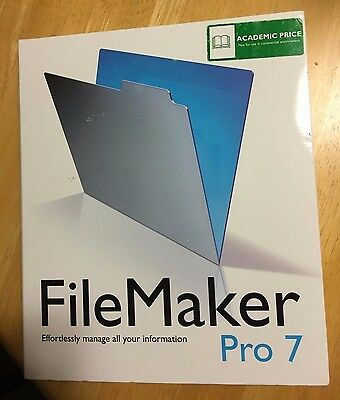 Filemaker Pro 9  for PC/WINDOWS