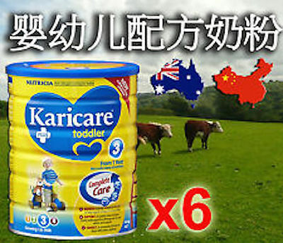 澳洲直邮中国 6 x Karicare+ Stage 3 Toddler (1yr+) 900g 可瑞康 3段牛奶粉 (1岁+) 900克x 6罐