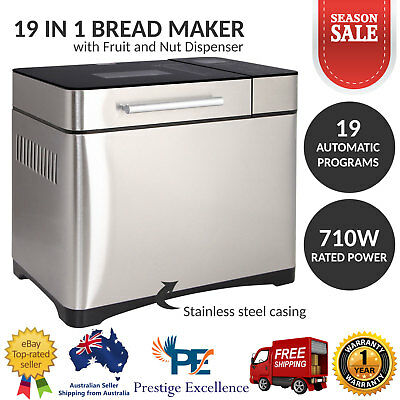 Bread Maker Machine Stainless Steel Professional Automatic Fruit Dispenser New