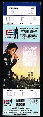 1988 Michael Jackson Private Concert Ticket Stub New York Usa Unused W/photos