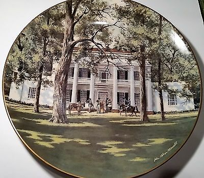 "AMERICAN COMMEMORATIVE COUNCIL GORHAM CHINA - HERMITAGE  - 11"" Plate 1974"