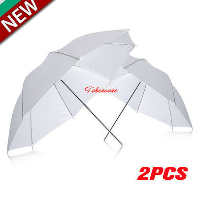 "Neewer 2PCS 33"" 83cm Photo Studio Flash Translucent White Soft Umbrella  HOT TO"