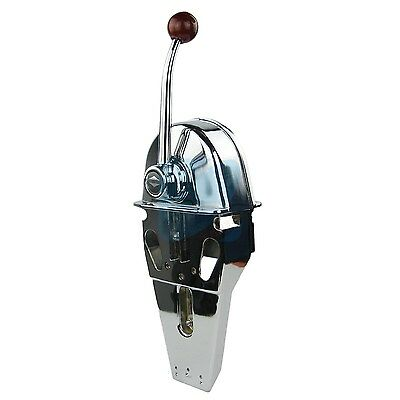 Universal Marine Control Lever Throttle Boat Single Handle Top Mount Zinc Alloy