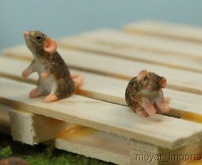 Brown Rats - G Scale - Set of Three for your junk pile!