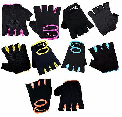Ladies Weight Lifting Gloves NEOPRENE Gym Training Body Building Fitness Straps