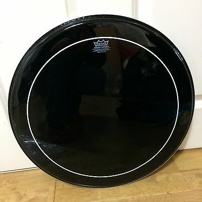 "Remo Pinstripe Ebony 18"" Tom Head Drum Black ~Free Shipping~"