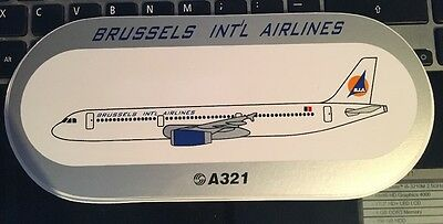Airbus Sticker Brussels Int'l Airlines A321