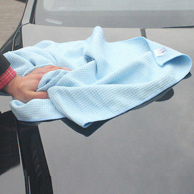 New High Quality Car Drying Towel Blue Waffle Weave Microfibre 60 x 80cm MC