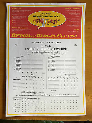 1998 Essex v Leicestershire B&H Final at lords scorecard