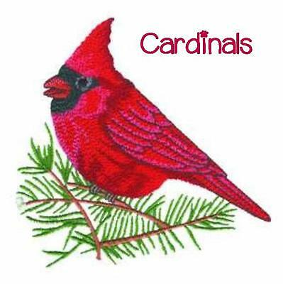 Cardinals Collection  ~ Designs In Machine Embroidery On Cd