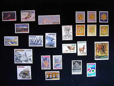 ANDORRA stamps Art  Astronomy Bridge Fairy tale Fauna Louis Braille Coat of Arms