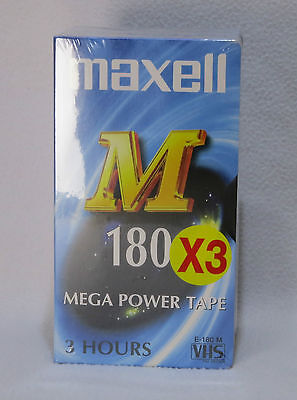 Maxell M180 VHS Video Tapes - Pack Of 3 Sealed Tapes