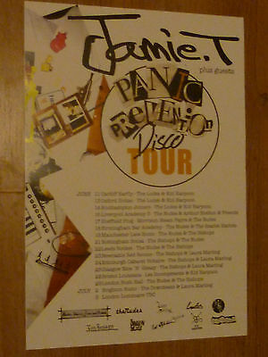 Jamie T Panic Prevention UK Tour 2006 concert gig poster