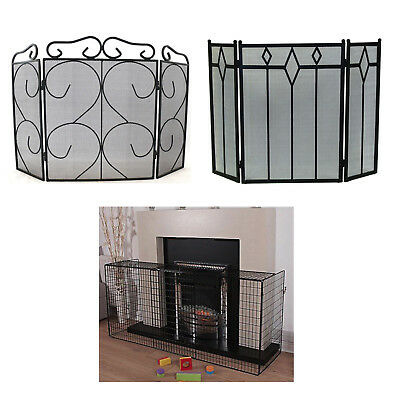 Vintage Fireplace Firescreen Guard Victorian Hearth Spark Nursery Safety Cover